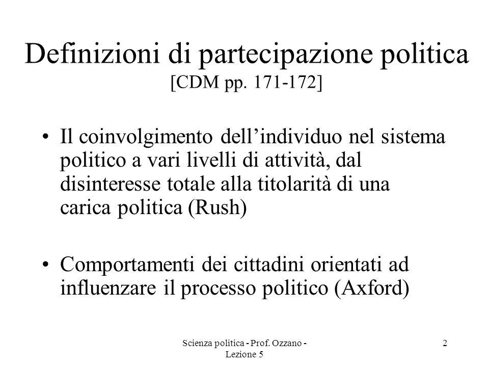 Definizioni di partecipazione politica [CDM pp. 171-172]